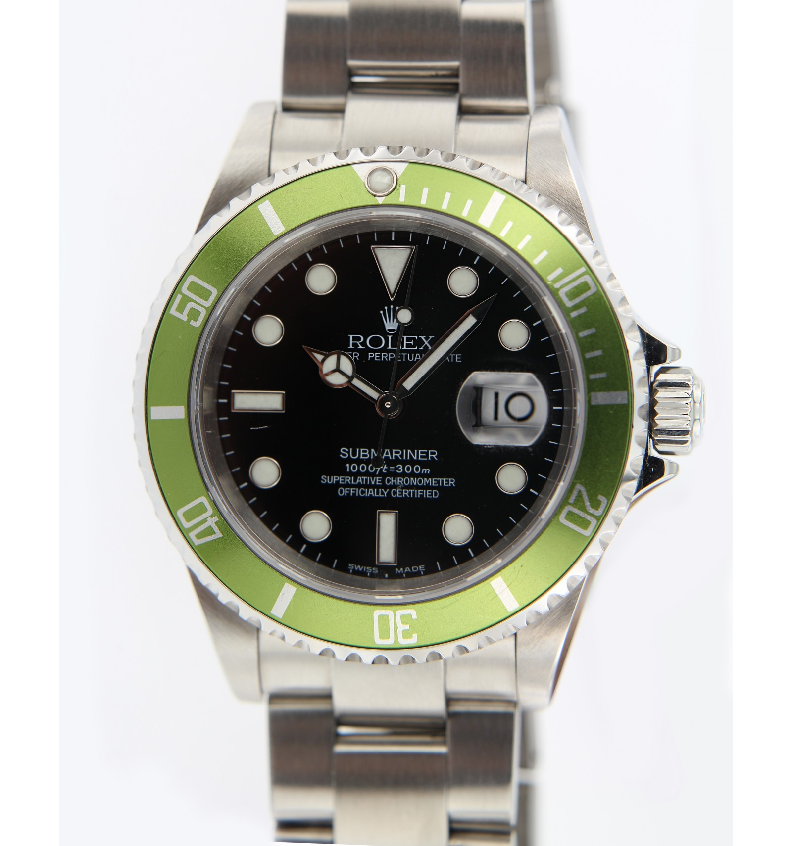 7bbd23ccb78 Rolex Submariner verde Limit Edition Fat Four - Ferro Gioielli