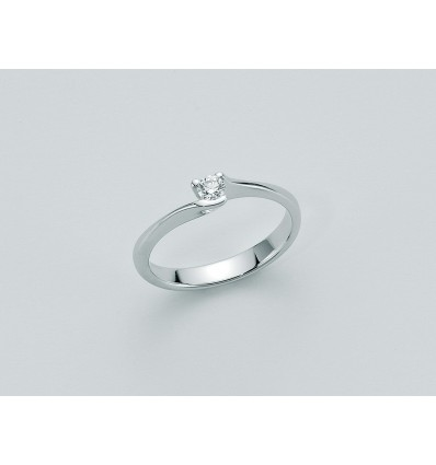 White Gold with Diamond Solitair Ring Diamante Puro Miluna LID2155_006 | Ferro Gioielli