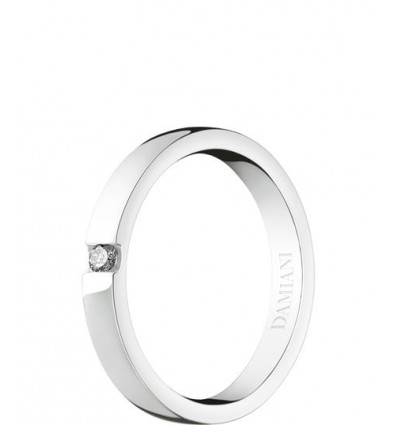 Damiani Veramore white gold wedding ring 2.7 mm | Ferro Gioielli