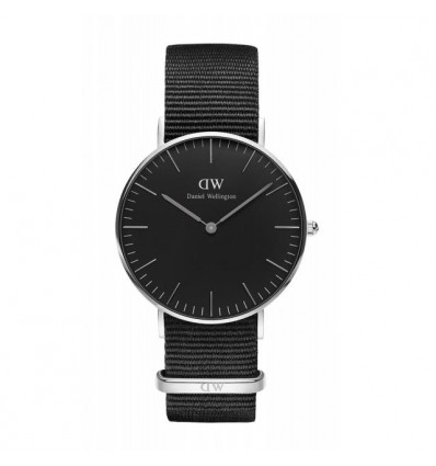 Daniel Wellington Black Cornwall 36 mm Silver | Ferro Gioielli