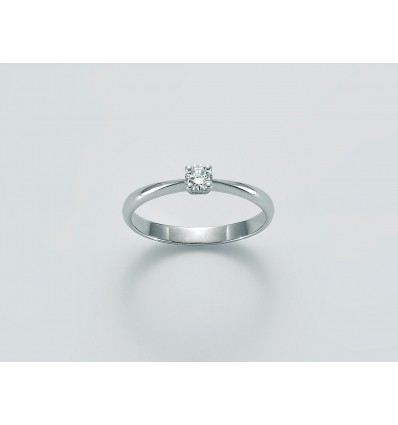 White Gold with Diamond Solitair Ring Diamante Puro Miluna LID3210_010S | Ferro Gioielli
