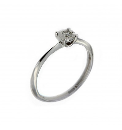 White Gold with Diamond Solitair Ring Parure Diamante Miluna solitario LID3223 | Ferro Gioielli
