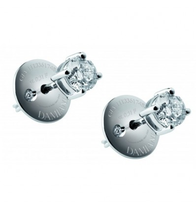 White Gold with ct 0.60 Diamonds Earrings Luce Damiani | Ferro Gioielli