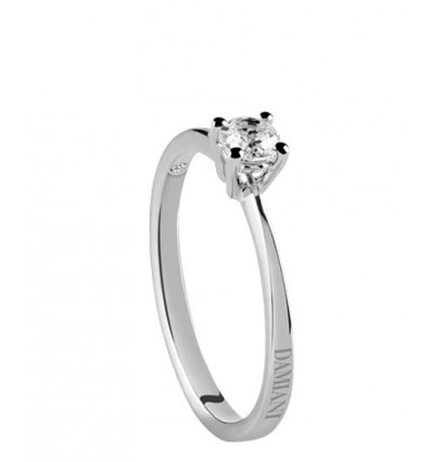 White Gold with ct 0.31 Diamond Solitair Ring Luce Damiani | Ferro Gioielli