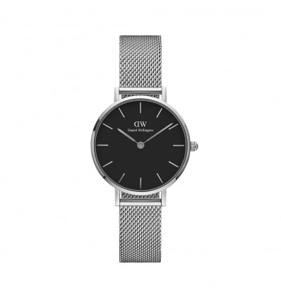 Daniel Wellington Classic Petite Sterling Nero 28 mm Acciaio