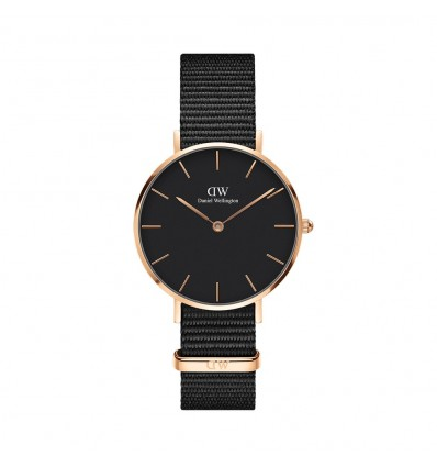 Daniel Wellington Classic Petite Cornwall Black 32 mm Rose | Ferro Gioielli