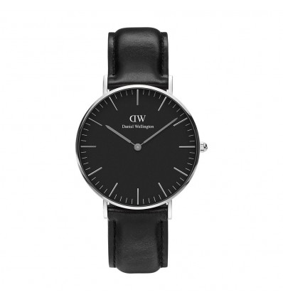 Daniel Wellington Classic Black Sheffield 36 mm Silver | Ferro Gioielli
