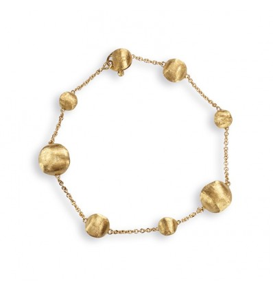 Yellow Gold Spaced Bead Bracelet Africa Marco Bicego BB1785 Y | Ferro Gioielli