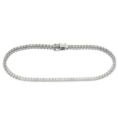 White Gold with ct 1,74 Diamonds Tennis Bracelet Splendore Damiani | Ferro Gioielli
