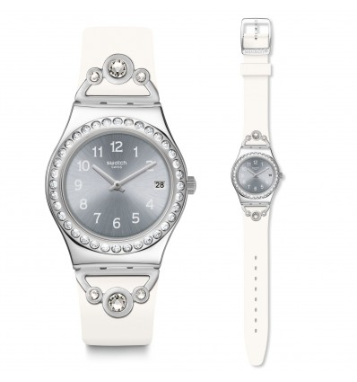 Swatch Irony Medium Pretty In White | Ferro Gioielli