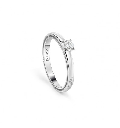 White Gold with Diamond Solitair Ring D.Side Damiani | Ferro Gioielli
