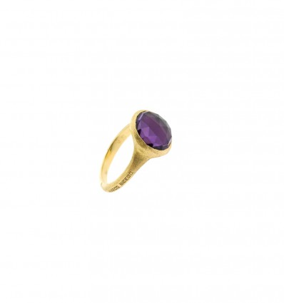 Yellow Gold and Rose Cut Cushion Medium Amethyst Stackable Ring Jaipur Marco Bicego AB449 AL01 Y | Ferro Gioielli