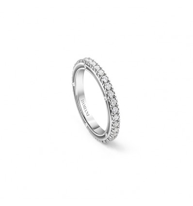 Damiani D.Side eternity oro bianco e diamanti ct 0.48