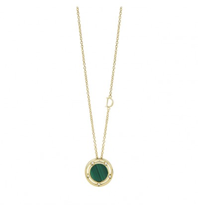 Yellow Gold with Malachite and Diamonds D.Side Damiani | Ferro Gioielli