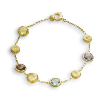 Yellow Gold with Beads and Mixed Colored Stones Bracelet Jaipur Marco Bicego BB1243 MIX01 Y | Ferro Gioielli