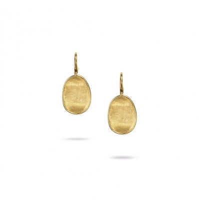 Yellow Gold Small French Wire Earrings Lunaria Marco Bicego OB1342-A Y | Ferro Gioielli