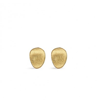Yellow Flat Gold Medium Stud Earrings Lunaria Marco Bicego OB1343 Y | Ferro Gioielli