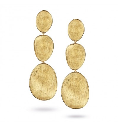Yellow Gold Large Triple Drop Earrings Lunaria Marco Bicego OB1350 Y | Ferro Gioielli