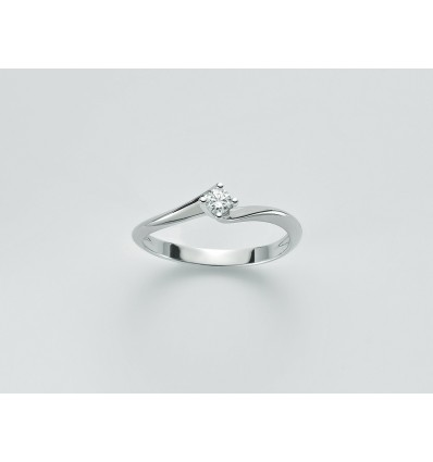 White Gold with Diamond Solitair Ring Parure Diamanti Miluna LID3264_013G7 | Ferro Gioielli