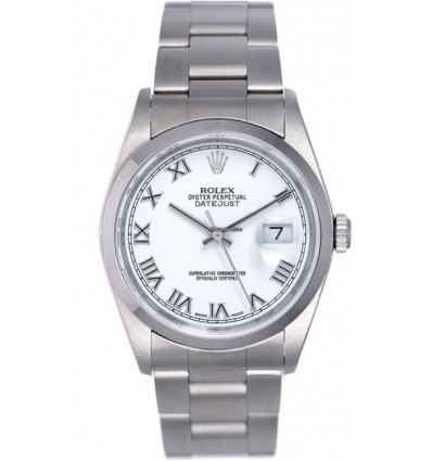 Rolex Datejust 36 mm Bianco 16200