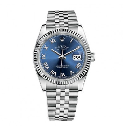 Rolex Datejust 36 mm Blue Roman 16234 | Ferro Gioielli