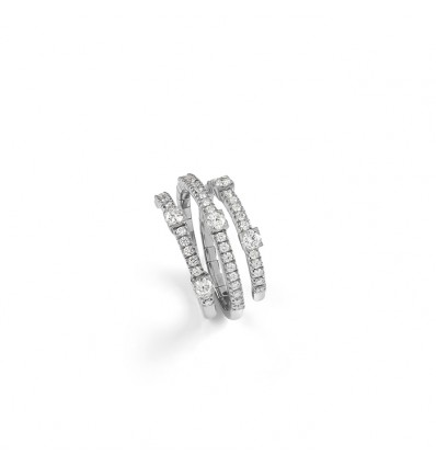 White Gold with ct 0.87 Diamonds Ring Notte di San Lorenzo Damiani | Ferro Gioielli