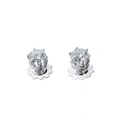 White Gold with Diamonds Earrings Minou Damiani | Ferro Gioielli