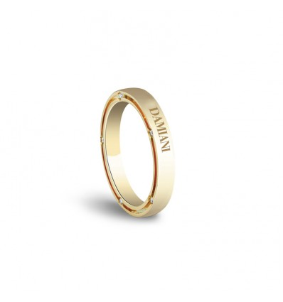 Yellow Gold with Diamonds 3,3 mm Wedding Ring D.Side Damiani | Ferro Gioielli