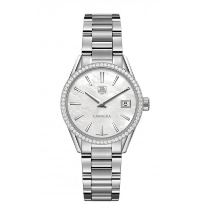 TAG Heuer Carrera Lady 100 M Quarzo 32 mm Madreperla e Diamanti | Ferro Gioielli