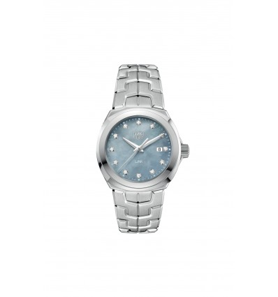 TAG Heuer Link Lady 100 M quarzo 32 mm madreperla grigia e diamanti | Ferro Gioielli