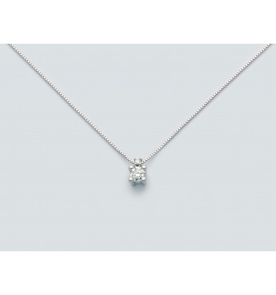 White gold necklace with ct 0.15 diamonds Favolosa Miluna CLD4182 | Ferro Gioielli