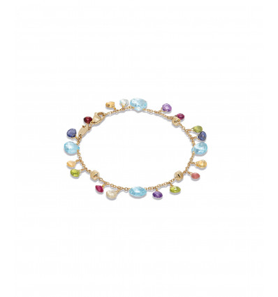 Yellow Gold with Sky Topaz and Mixed Stones Single Strand Paradise Marco Bicego BB2584 MIX01T Y | Ferro Gioielli