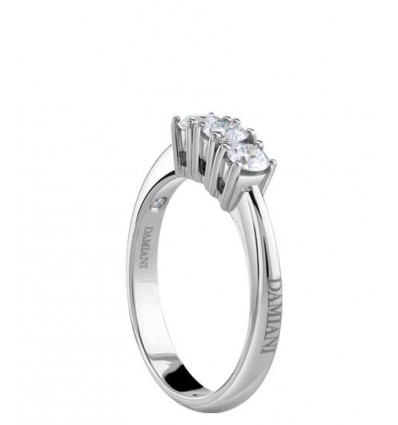 White Gold with ct 0.33 Diamonds Trilogy Ring Luce Damiani | Ferro Gioielli