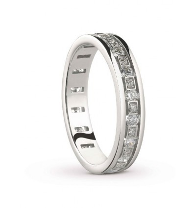 White Gold and Diamonds Eternity Ring Belle Epoque Damiani | Ferro Gioielli