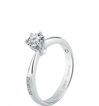 White Gold with Diamond Solitair Ring Elettra Damiani | Ferro Gioielli