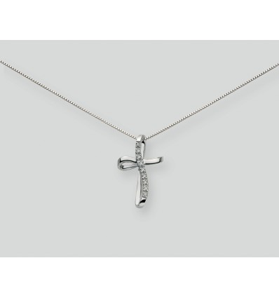 White Gold with Diamonds Pendant Necklace Le Croci Miluna CLD745 | Ferro Gioielli