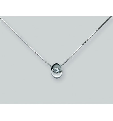 White Gold with Diamond Necklace I Punti Luce Miluna CLD876_D16V | Ferro Gioielli