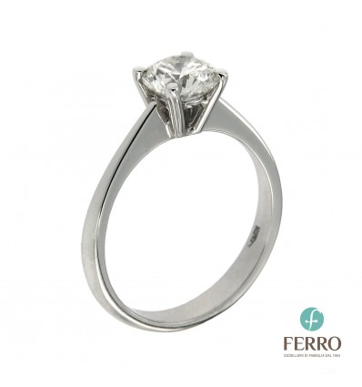 Ferro Design anello solitario ct 1,03