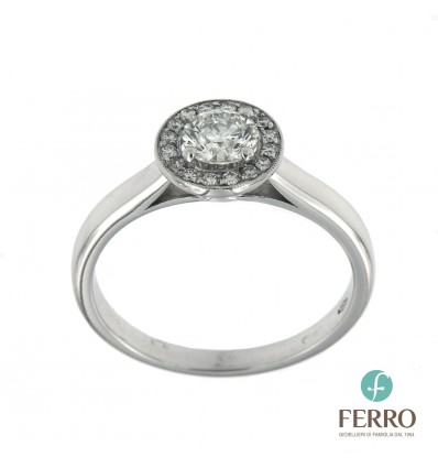Ferro Design anello oro bianco e diamante ct 0,55