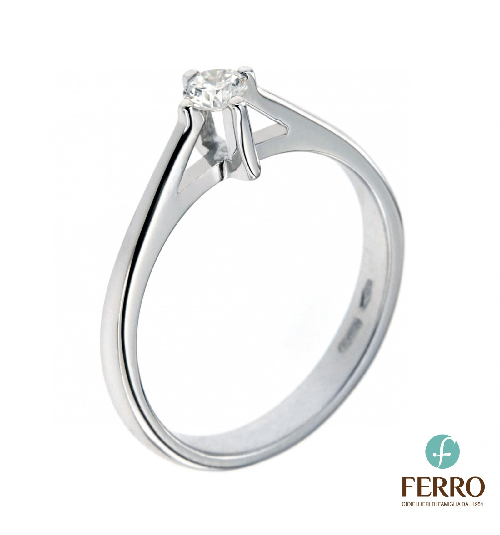 Anello 20 E Ct Bianco In Oro Ferro Solitario Design Diamante 0 8mnwv0OyNP