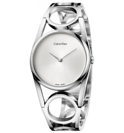 CALVIN KLEIN ROUND LADY MIRRORED QTZ