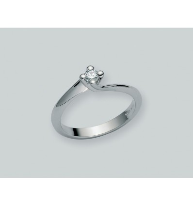 White Gold with Diamond Solitair Ring Diamante Puro Miluna LID1336_D9 | Ferro Gioielli