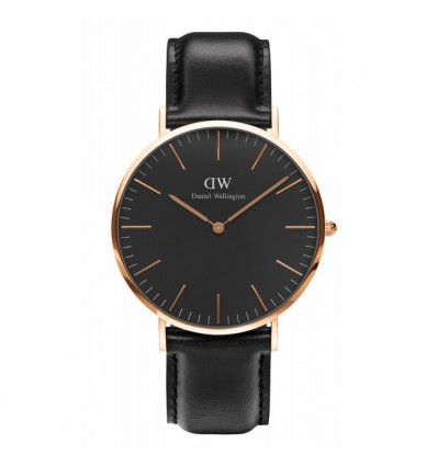DANIEL WELLINGTON SHEFFIELD 40 MM ROSE NERO | Ferro Gioielli