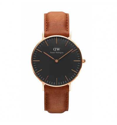 DANIEL WELLINGTON DURHAM 36 MM ROSE NERO | Ferro Gioielli