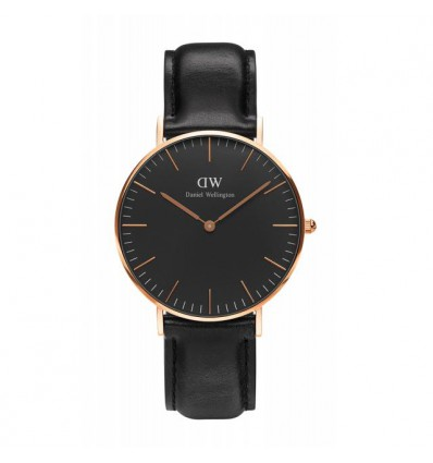 Daniel Wellington Classic Black Sheffield 36 mm Rose | Ferro Gioielli