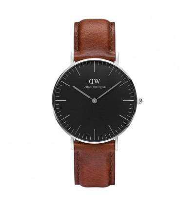 Daniel Wellington Black St Mawes 36 mm Silver
