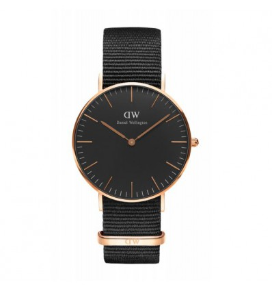 Daniel Wellington Black Cornwall 36 mm Rose
