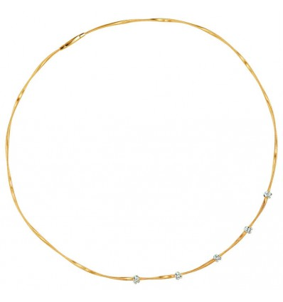 Yellow and White Gold Five Stations Diamond Necklace Marrakech Marco Bicego CG623 B YW | Ferro Gioielli