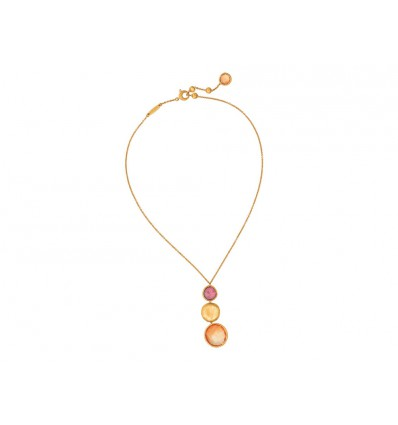 Yellow Gold and Mixed Colored Stones Pendant Necklace Jaipur Marco Bicego CB1224 MIX164 Y | Ferro Gioielli